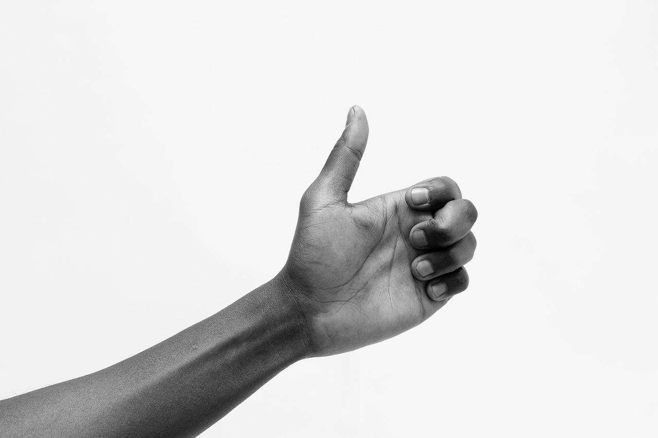 Ian Whittlesea - Works - Ery Nzaramba demonstrating twelve Finger Exercises from the Egyptian Postures